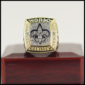 Wholesale The Newest New Orleans Saint s Championship Ring With Wooden Box Fan Gift Drop Shipping ALL SIZES AVAILABLE