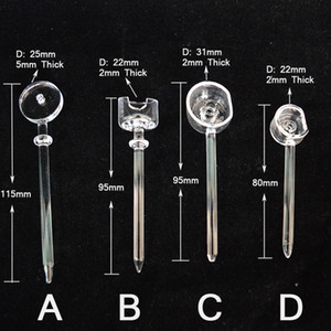Wholesale Quartz Banger Carb Cap Dabber Horizontal Dab Tool with Long Handles for Quartz Bangers Nails mm Thickness in Quartz Tool
