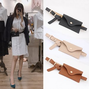 Wholesale New Women s Leather Bag Belt cm Korean Mini Phone Bag Wallet Bags for Women Large Waist Purse Yellow White