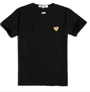 Wholesale 22 style Summer New Women Men Simple Tide brand Japan Love Embroidery Red heart Wave point Classical short Sleeve cotton T shirts