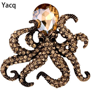 Octopus stretch ring antique gold silver color W crystal fashion scarf jewelry charm gifts for women wholesale dropshipping