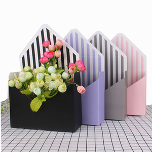 Mini Envelope Type Box Korean Flower Bouquet Floral Hand-folded Gift Box Flower Box 20cm x 7cm x 14.5cm QW7173