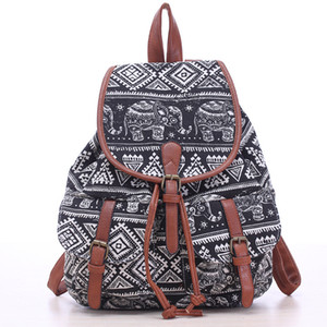 2018 New Womens Retro Backpack Buckle Shivering Canvas Backpacks Casual bags for girls school bags on Sale