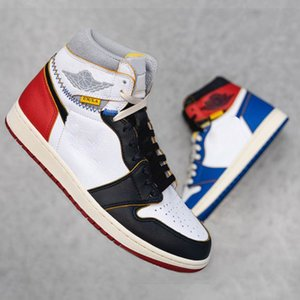 Wholesale New Union x High OG NRG s Basketball Shoes Red Blue Unique Designer Fashion Leading Mens Trainers Sports Shoes
