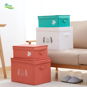 Wholesale Oxford cloth washable covered storage box folding clothes toys finishing box cloth clothes storage