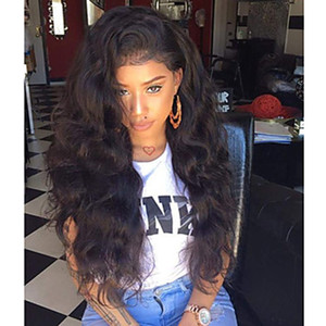 Wholesale Hot Sexy Natural Soft Black Curly Wavy Long Cheap Wigs with Baby Hair Heat Resistant Glueless Synthetic Lace Front Wigs for Black Women