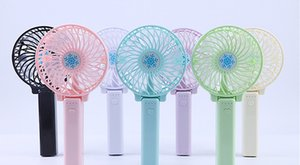 Handy Usb Fan Foldable Handle Mini Charging Electric Fans Snowflake Handheld Portable For Home Office Gifts RETAIL BOX by niubility on Sale