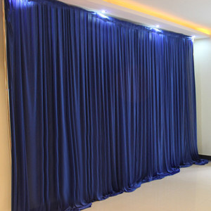 Wholesale 10x20ft Ice silk garland wedding backdrop stand curtain drape wedding supplies simple curtain drapes background for party event