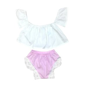 Baby Girls Sets Summer Solid White Sleeveless Tops & Lace Pants Fashion Casual Clothes 2pcSets 18Apr23