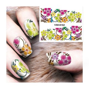 Water sticker for nail art all decorations sliders gorgeous lily flower adhesive nail design decals manicure lacquer accessoires