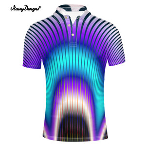 Wholesale Noisydesigns 3D Mix-color Dye Print Short Sleeved Harajuku Male Tops Shirt Summer Fashion Casual Homme shirt men Polyamide
