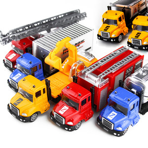 Wholesale 1 Alloy Engineering Toy Car Mining Car Truck Children s Birthday Present toys for children Diecasts Toy Vehicles