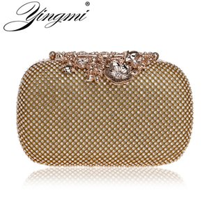 YINGMI New Arrival Full Of Rhinestones For Women Evening Bag Chain Shoulder Ladies Purse Handbags Small Party Dress Clutch