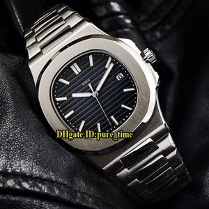 Wholesale Sport Nautilus A Dark Blue Dial Asian Automatic Mens WatchStainless Steel Bracelet High Quality New Watches