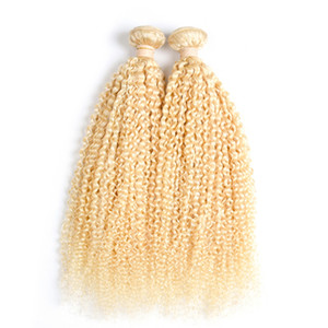 Brazilian Kinky Curly Hair 2 Bundles 100% Remy Human Hair Non-Remy 200g 613 Bleach Blonde brazilian hair weave bundles