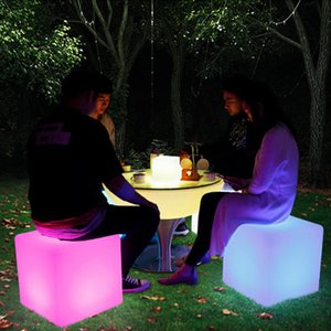 Wholesale Glowing LED Chair Color Led Furniture X30X30CM Square Cube Luminous Table Light for Garden Bar Party Wedding Show with Remote Control