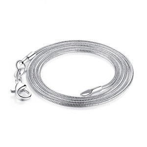 Smooth Snake Chain Necklace Lobster Clasps Chain Plating Silver Copper Jewelry 10 inch 14 inch 30 inch for Pendants
