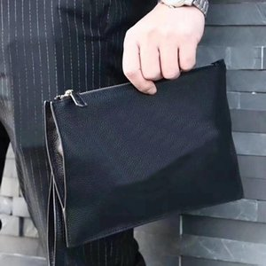 Wholesale New Design Purse Casual Genuine Leather Men s Envelope Clutch Business Men Clutch Bags Solt Leather Large Capacity Hand Bags for Male