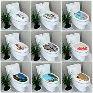 Wholesale HELLOYOUNG cm sticker WC cover toilet pedestal toilets stool toilet lid sticker WC home decoration bathroom Accessories