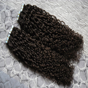 "Wholesale Cheap 8a Tape Hair Kinky Curly 200g Tape Hair Skin Weft Tape In On Skin Weft Human Hair Extension 80 pcs 16"" 18"" 20"" 22"" 24"""