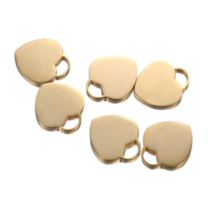 50PCS 17X20mm 2018 Stainless Steel Metal Sheet Gold Silver Color LOVE Heart Pendant Charms for DIY Jewelry Making Accessories Findings