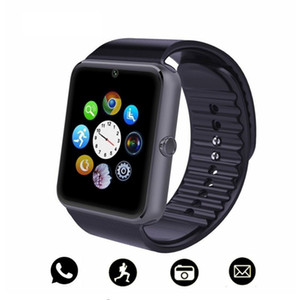 Wholesale Bluetooth Smart Watch Men GT08 With Touch Screen Big Battery Support TF Sim Card Camera For IOS iPhone Android Phone