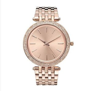 Wholesale 38mm ultra thin Ladies Simple design full diamond watch womens luxury designer Top famous brand rose gold bracelet stainless steel clocks