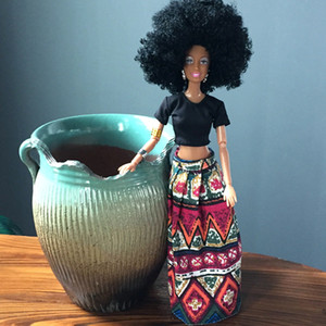 Wholesale Baby Movable Joint African Doll Toy Black Best Gift Toy toys for children puzzle juguetes educativos montessori