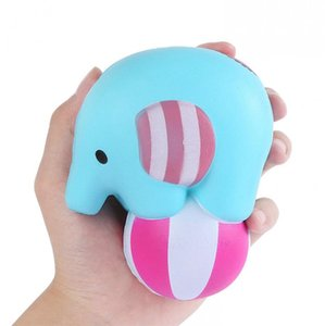 Elephant Play Ball Jumbo Squishy Kawaii Squeeze Cream Scented Slow Rising Squeeze Toys Stress Reliever kids Gift