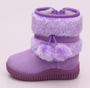 Wholesale Girls Snow Shoes New Fashion Comfortable Thick Warm Kids Boots lobbing ball thick Children s Winter Cute Boys Boots