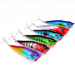 Poper Mini Bling Fishing Lure With Hooks 8cm12g Floating Crankbait Artificial Fishes Shape Baits Pesca Carp Pike Equipments 2 1sb ZZ
