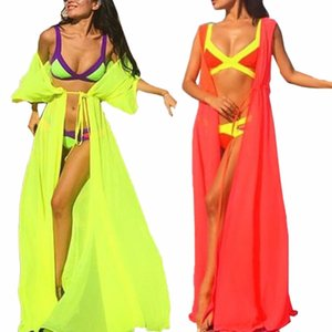 Wholesale-Women Summer Beach coat and Bathing Suit Sexy Bikini Cover Up Summer Beach Chiffon Attractive Coat