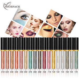 Wholesale NICEFACE Liquid Eye Shadow Set Long Lasting Shimmer Glitter Pearl Bright Color Eyeshadow Makeup Christmas Gift Set