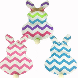 Wholesale 50pcs chevron easter garden flag easter decoration canvas with EVA inch chevron garden flag SN1016