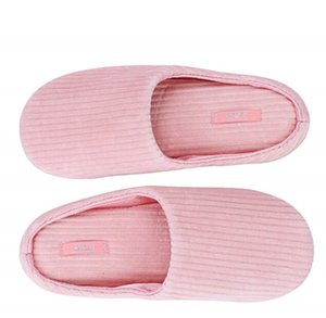 ingrosso women s house slippers-Pantofola interna in velluto comode pantofole morbide da donna Spa Travel Guest Camera da letto Coppia pantofole Pantofole antiscivolo Home House Slip on Warm