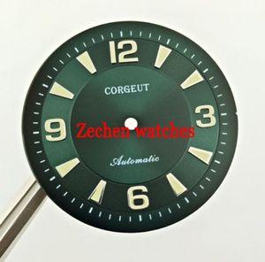 33.5mm Corgeut Green Watch Dial Fit ETA 2836,ETA2836,Miyota 82 Series Movement