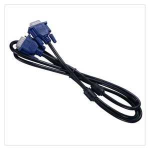Wholesale Black Blue VGA Pin Male to Male Plug Computer Monitor Cable Wire Cord ft