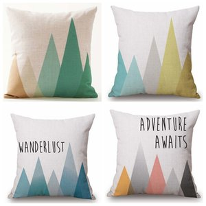 Wholesale arrow pillow covers for sale - Group buy Cushion Covers Nordic Geometric Arrows Rhombus Pillow Cover Linen Cotton Beige Pillow Case Set of