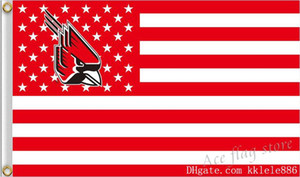 Wholesale Ball State University Flag x cm Polyester BSU NCAA Stars And Stripes Banner