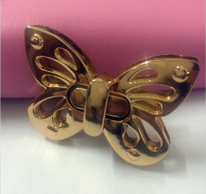Wholesale Bag with Parts amp Accessories gold metal hollow out the butterfly decorations twist lock