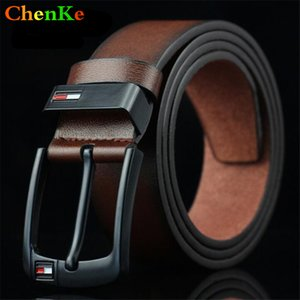 Wholesale ChenKe Luxury genuine leather belt men vintage leather belts men s jeans strap black wide strapping waistband brown