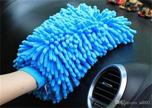 Wholesale car electrical for sale - Group buy Chenille Cleaning Gloves Microfiber Car Wash Mitt Clean Window Tool For Solid Colors Durable Strong Decontamination Multifunction zk ii