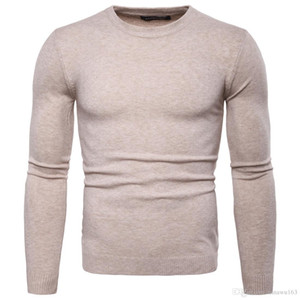 Wholesale Slim Fit Pullover Sweater Men Fashion Tops With Long Sleeve Crew Neck High Quality Cashmere Blend Knitted Winter Mens Clothing For Sal