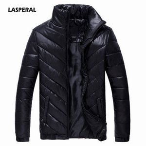 LASPERAL 2018 Brand Winter Jacket Men's Parkas Warm Running Jacket Plus Size 5XL Casual Coats Cotton Padded Male Clothing on Sale