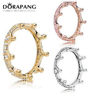Wholesale DORAPANG NEW 100% 925 Sterling Silver Rings Magic Rose Gold Crown Ring 14K Golden Magic Crown Personality Temperament Fit women