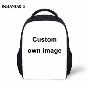 INSTANTARTS Custom Your Own Logo Design Photo Print Baby Boys Girls Mini School Bags Kindergarten Student Backpacks Kids Satchel