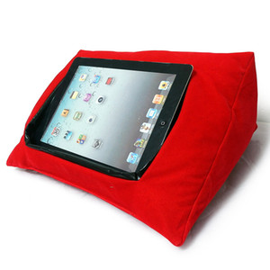 Wholesale Creative Multifunction new arrival sofa velvet Ipad tablet cushion pillows lazy pillow cushions multi color optional Christmas gift