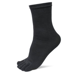 Wholesale 1 Pair New Autumn Winter Warm Style Unisx Men Women Five Finger Pure Cotton Toe Sock Colors