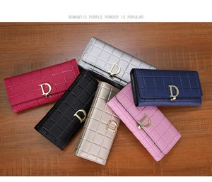 Wholesale 2018 Women H Long Wallets Vintage Leather Clutch Wallet Women's Coin Purse Ladies Clutch Money Phone Bag With Card Holder