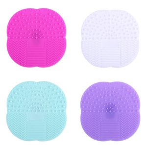 Wholesale Foundation Makeup Brush Cleaner Pad Silicone Suction Cup Cosmetic Brushs Clean Mat Multi Color Hot Sale sh C R